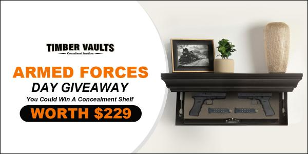 Timber Vaults-Armed Forces Day- Floating Concealment Shelf Giveaway!!